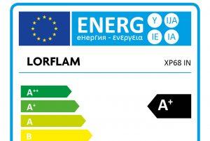 LORFLAM XP68 fiche classe énergie norme européenne
