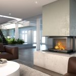 LORFLAM Foyer VS100 3 faces ambiance loft marbre bois