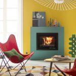 LORFLAM foyer XP68 ambiance couleur cadre vert fond jaune design habitation colorée
