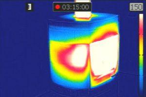 Poêle cheminée XP BOX ollaire LORFLAM caméra thermique accumulation