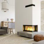 Foyer bois VS101 côtés vitrés haute définition LORFLAM