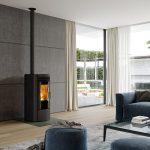 LORFLAM Ofen SP3 granulés noir mat style design moderne