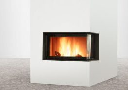 LORFLAM VS100 1 côté vitré posé béton fond blanc